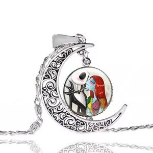 Nightmare Before Christmas Crescent Moon Necklace